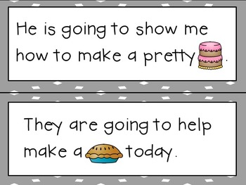 Sight Word Sentence Strips: Sweet Treats Set