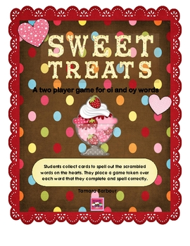 Sweet Treats File Folder Game for oi and oy words