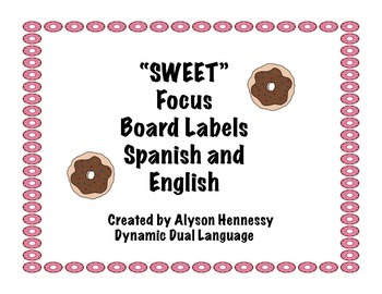 Sweet Treats Focus Wall Labels (English and Spanish)