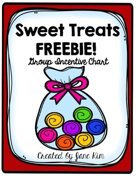 Sweet Treats Group Incentive Chart FREEBIE