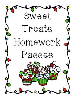 Sweet Treats Homework Pass