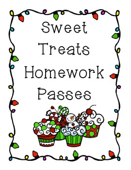 Sweet Treats Homework Pass