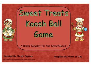 Sweet Treats Koosh Ball SMARTBoard Game