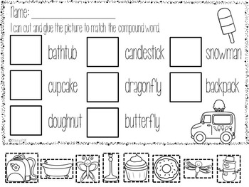 Di graphs and Compound words Literacy Centers