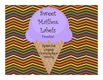 Sweet Treats Mailbox Labels FREEBIE!