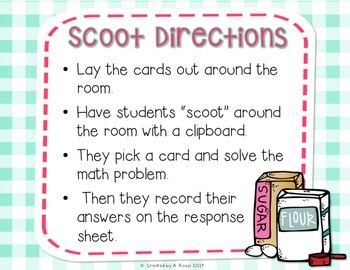 Sweet Treats Math Scoot {Task Cards} FREEBIE