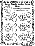 Sweet Treats Number Bonds Worksheet