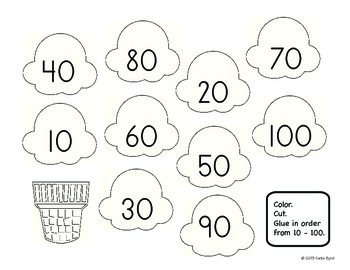 Sweet Treats Number Order - Hands ON Math Centers for Common Core
