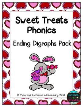 Sweet Treats Phonics: Ending Digraphs Pack