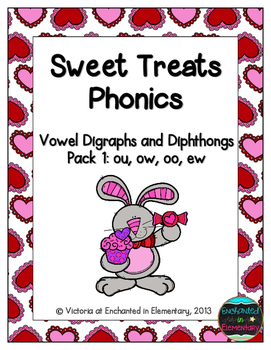 Sweet Treats Phonics: Vowel Digraphs and Diphthongs Pack 1: ow, ou, oo, ew