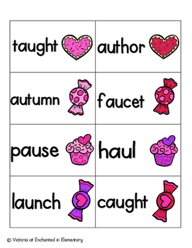 Sweet Treats Phonics: Vowel Digraphs and Diphthongs Pack 2: aw, au, oi, oy