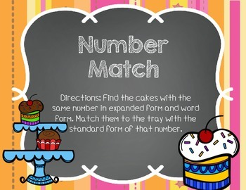 Sweet Treats Place Value Center Games