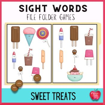 FREE: Sweet Treats Pre-Primer Dolch Words File Folder Game