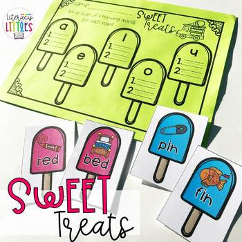 Sweet Treats {Rhyming Center with CVC Words}