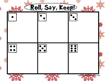 "Sweet Treats ""Roll, Say, Keep!"" First Grade Dolch Sight Word Center + Extra"