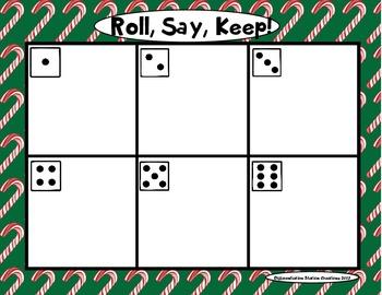 """Sweet Treats """"Roll, Say, Keep!"""" Numerals 1-120"""