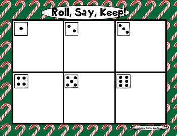 "Sweet Treats ""Roll, Say, Keep!"" Pre-Primer Dolch Sight Word Center + Extra"