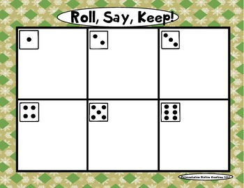 "Sweet Treats ""Roll, Say, Keep!"" Primer Dolch Sight Word Center + Extra"