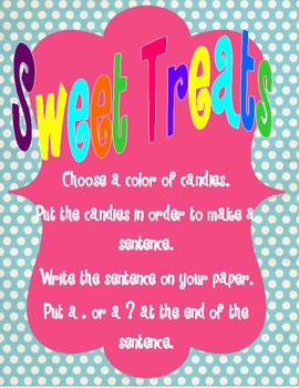 Sweet Treats Sentences Correlated with Common Core