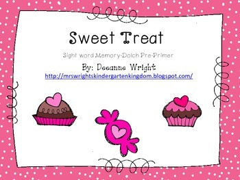 Sweet Treats Sight Word Memory