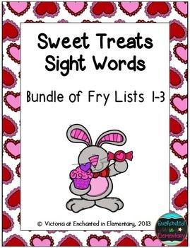 Sweet Treats Sight Words! Bundle of Fry Lists 1-3