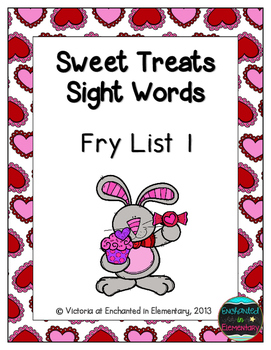 Sweet Treats Sight Words! Fry List 1