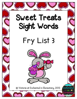 Sweet Treats Sight Words! Fry List 3