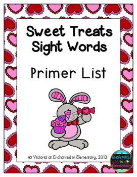 Sweet Treats Sight Words! Primer List Pack