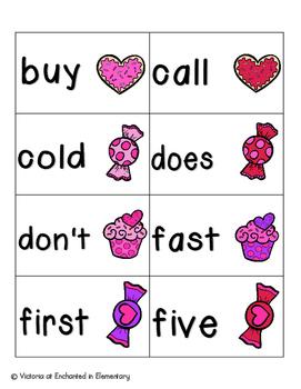 Sweet Treats Sight Words! Second Grade List Pack