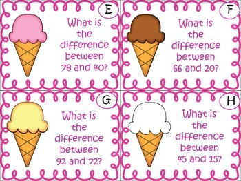 Sweet Treats- Sums and Differences