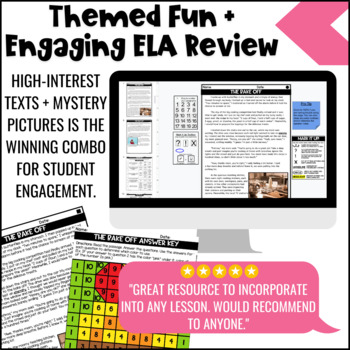 Sweet Treats Themed Close Reading Comprehension Passages   ELA Test Prep Review