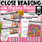 Sweet Treats Themed Close Reading Comprehension Passages | ELA Test Prep Review