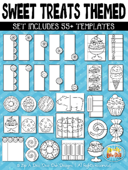 Sweet Treats Themed Flippable Interactive Templates — Includes 55+ Templates!
