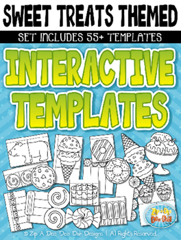 Sweet Treats Themed Flippable Interactive Templates — Incl