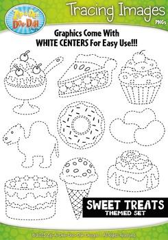 Sweet Treats Tracing Image Clipart {Zip-A-Dee-Doo-Dah Designs}