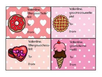 Sweet Treats Valentine Cards
