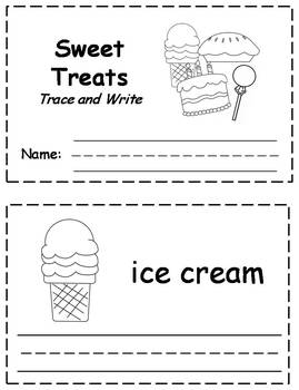 Sweet Treats Words Trace & Write Book