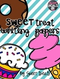 Sweet Treats Writing Papers