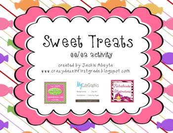 Sweet Treats: ee/ea activity