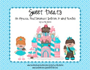 Sweet Treats for Apraxia, Final Consonant Deletion, & Word Families