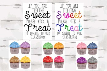 Sweet Treats for classroom donations,  perfect for Open House and Conferences,