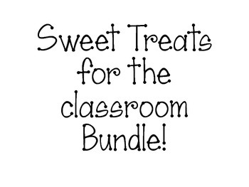 Sweet Treats for the Classroom Bundle