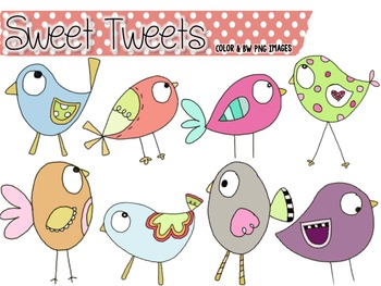 Sweet Tweets:  Bird Clip Art