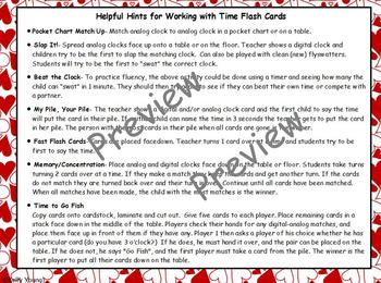 Sweet Valen-times: Time to Hour & Half Hour Cards