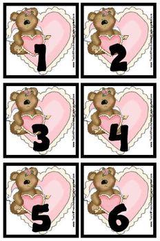 Sweet Valentine Calendar Cover-Ups / Valentine's Day Memory Game - PreK Hearts