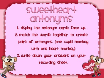 Sweet Valentine - Literacy Centers