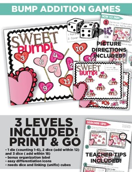 Sweet Valentine Math and Literacy Centers and Small Group Materials