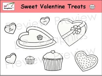 Sweet Valentine Treats Clip Art