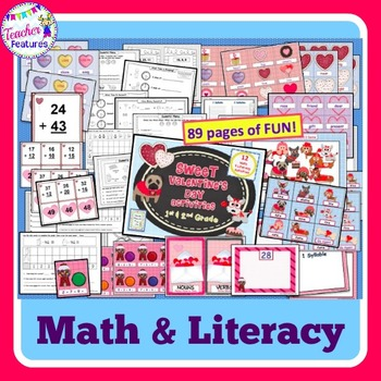 Valentines Day Math and Literacy Bundle