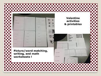 Sweet Valentine's Day Activities for Pre-k and kindergarten